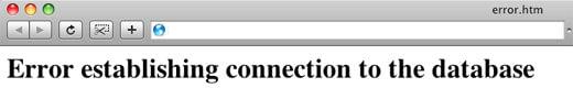 خطا در اتصال پایگاه داده