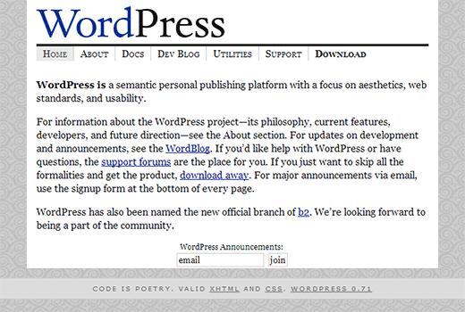وردپرس 2003