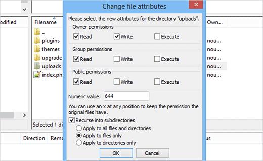سطح دسترسی فایل ها