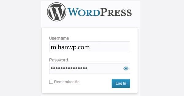 نمایش/مخفی کردن رمز عبور در صفحه ورود وردپرس