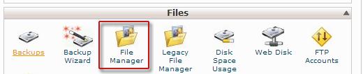 مدیریت فایل سی پنل