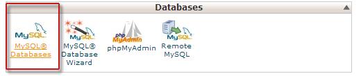 ایجاد پایگاه دادهcpanel1