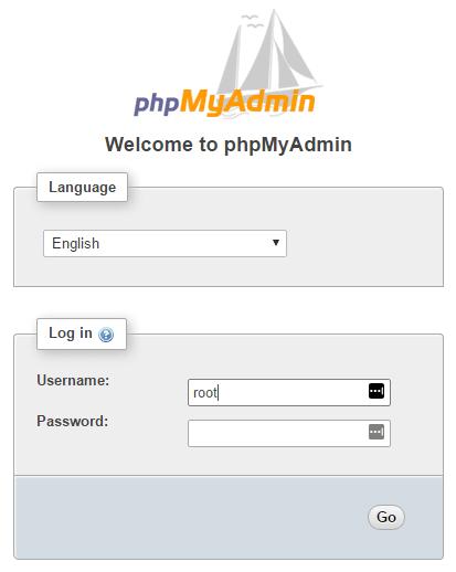 ورود به phpmyadmin