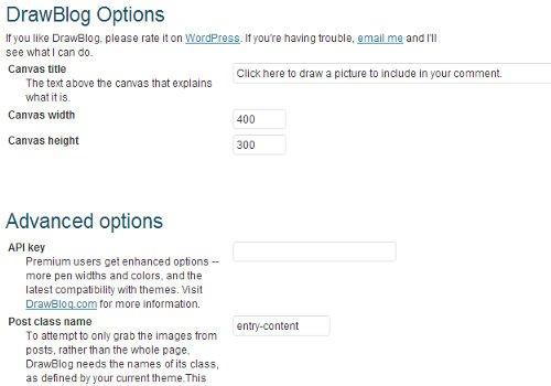 تنظیمات drawblog