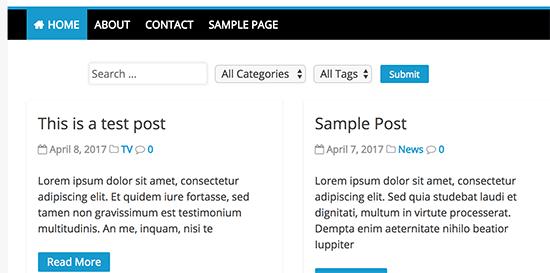 فیلتر پست ها و صفحات در وردپرس