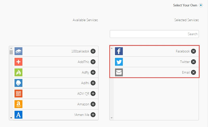 add share button
