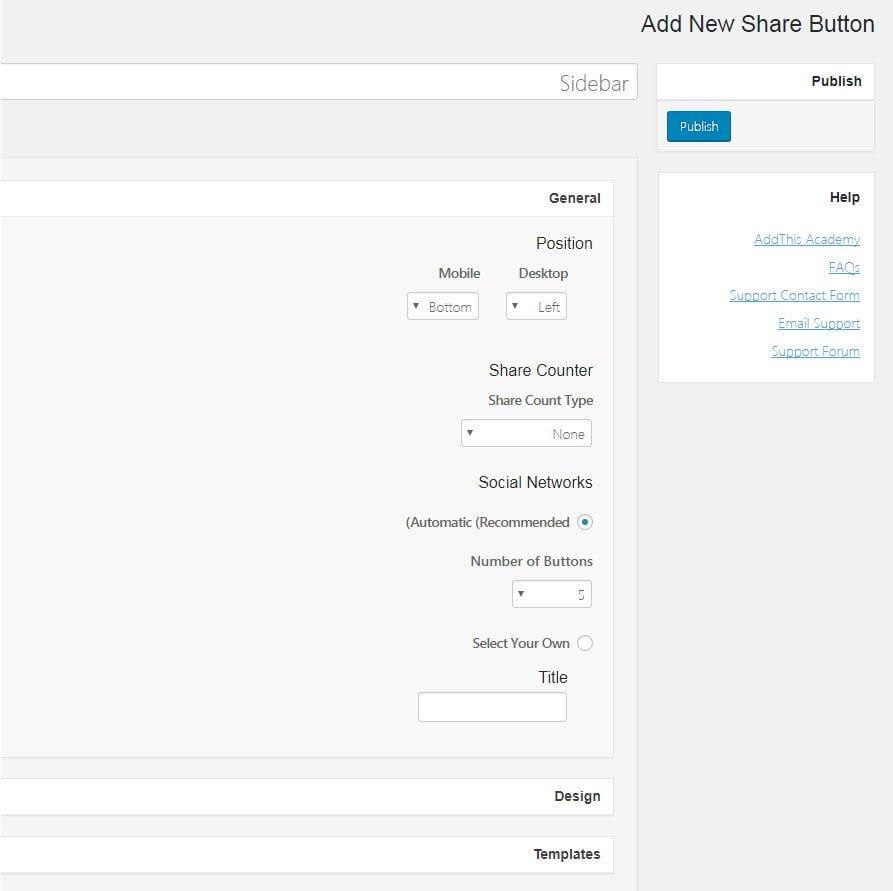 sidebar share button