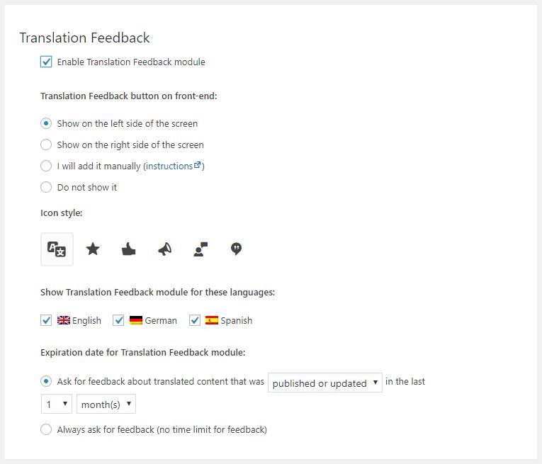 نظردهی کاربران Translation Feedback