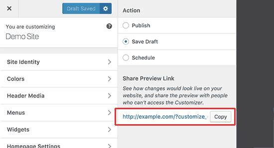 ذخیره پیش نویس تغییرات در سفارش سازی