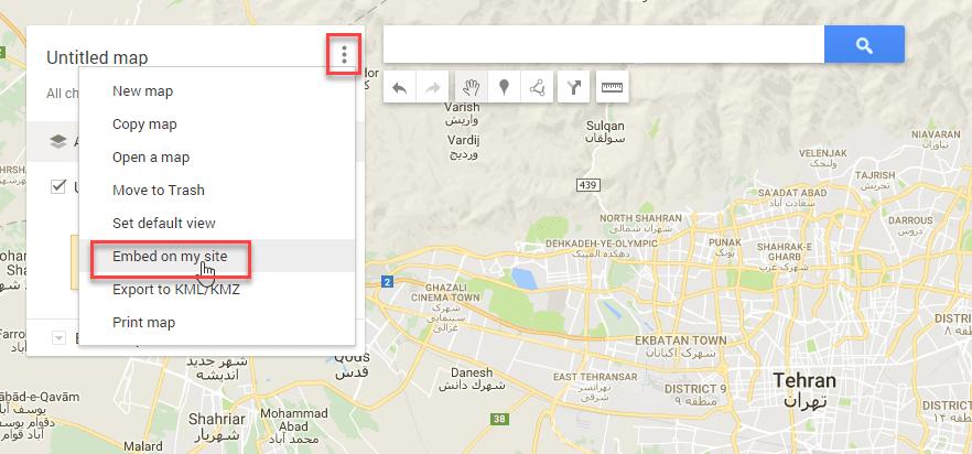 قرار دادن نقشه در سایت