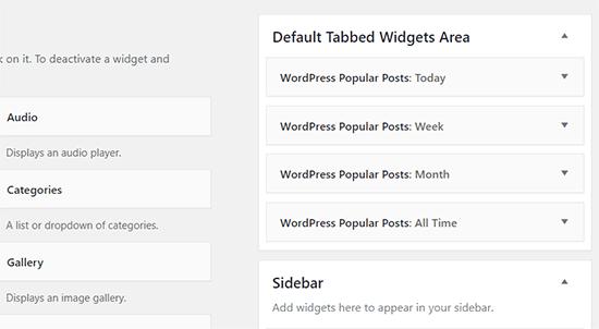 shortcode widget 2