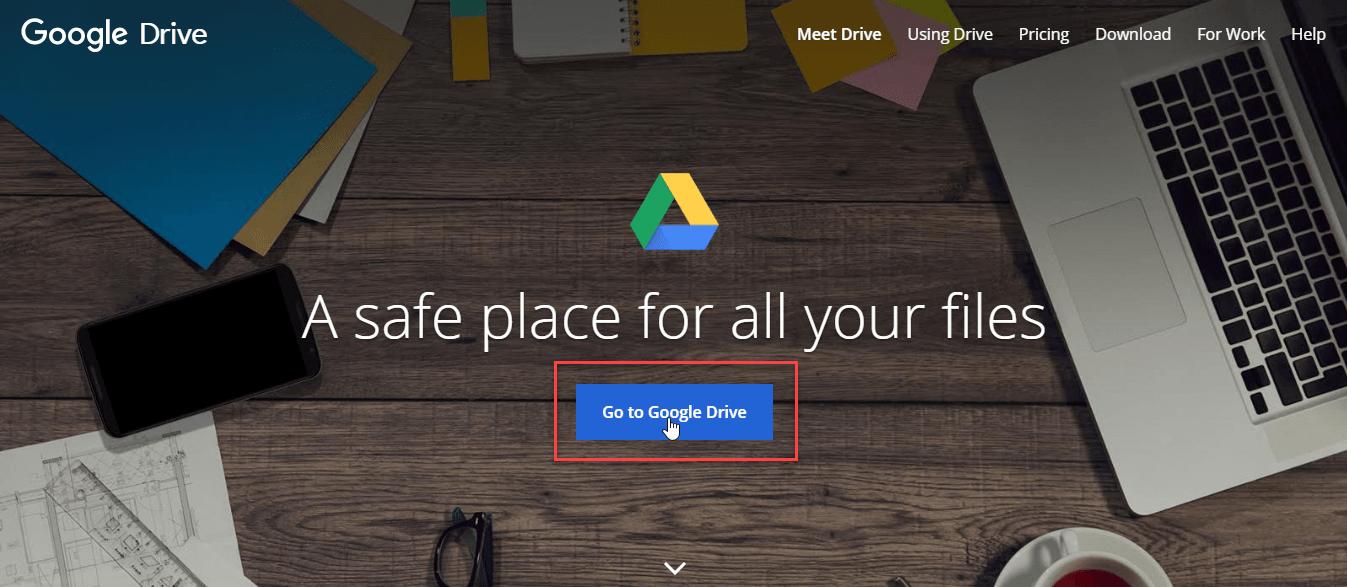 وارد شدن به گوگل درایو