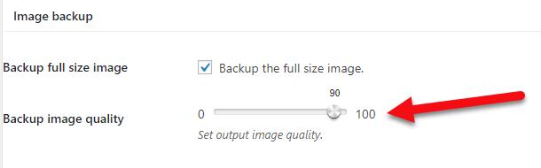 کیفیت بکآپ تصاویر