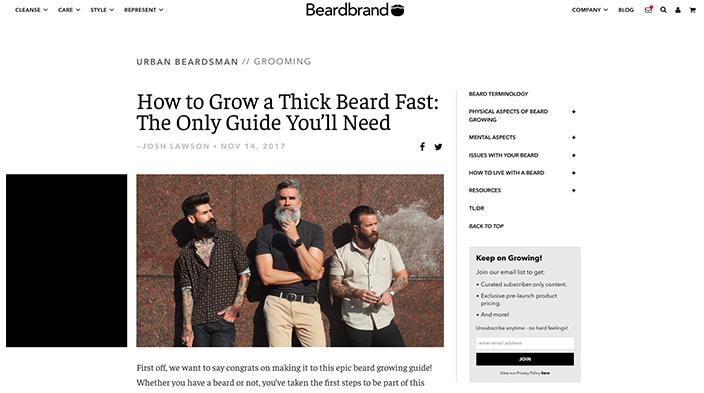 وبسایت Beardbrand