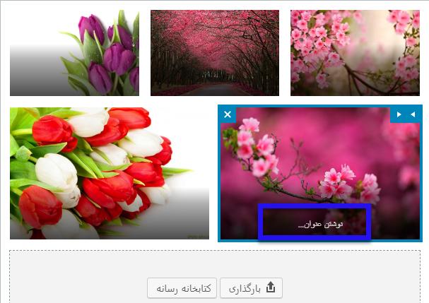 افزودن عنوان به تصاویر
