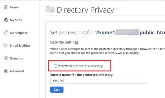 حذف رمز عبور پوشه مدیریت