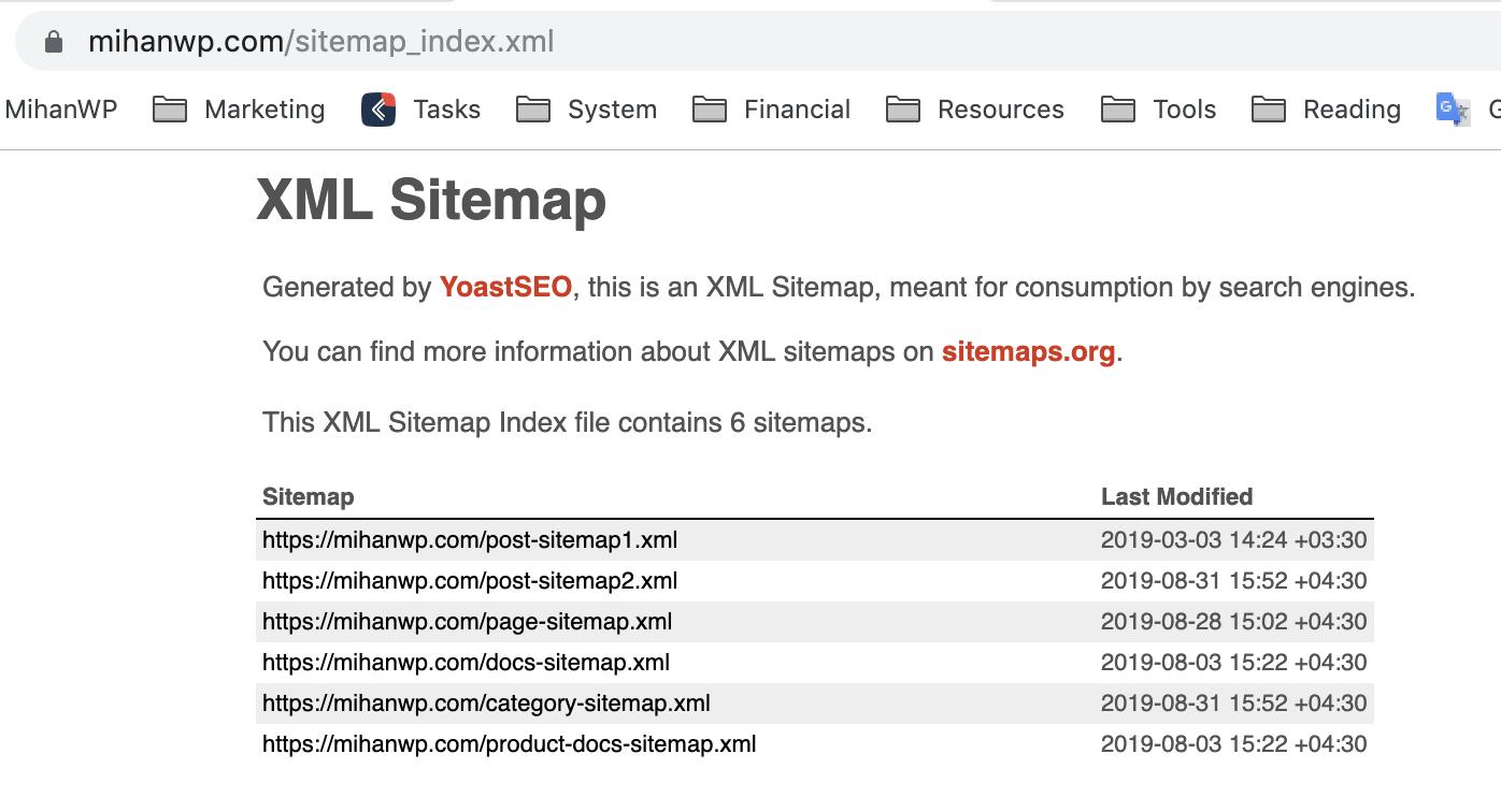 نقشه xml سایت شما