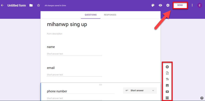 ساخت یک فرم جدید در Google Form