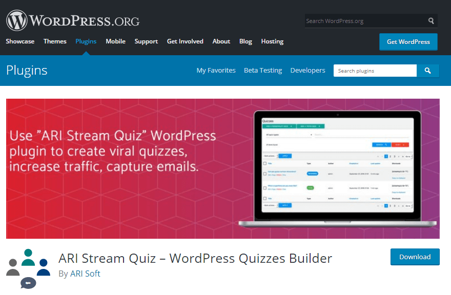 افزونه ARI Stream Quiz – WordPress Quizzes Builder