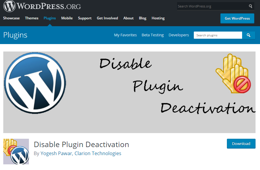 افزونه Disable Plugin Deactivation