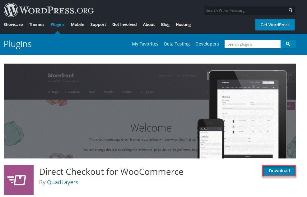 دانلود افزونه  WooCommerce Direct Checkout
