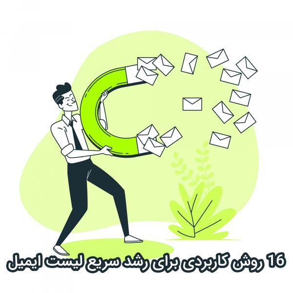 16 روش برای رشد سریع لیست ایمیل شما