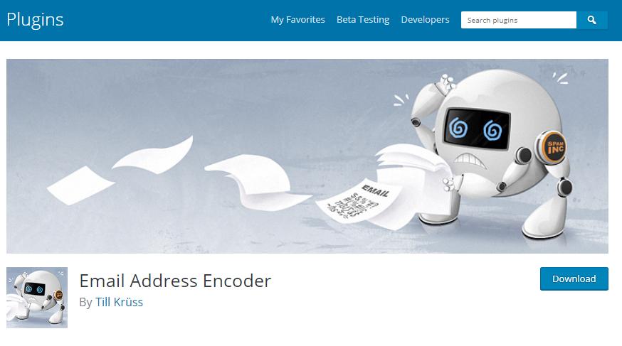 افزونه Email Address Encoder