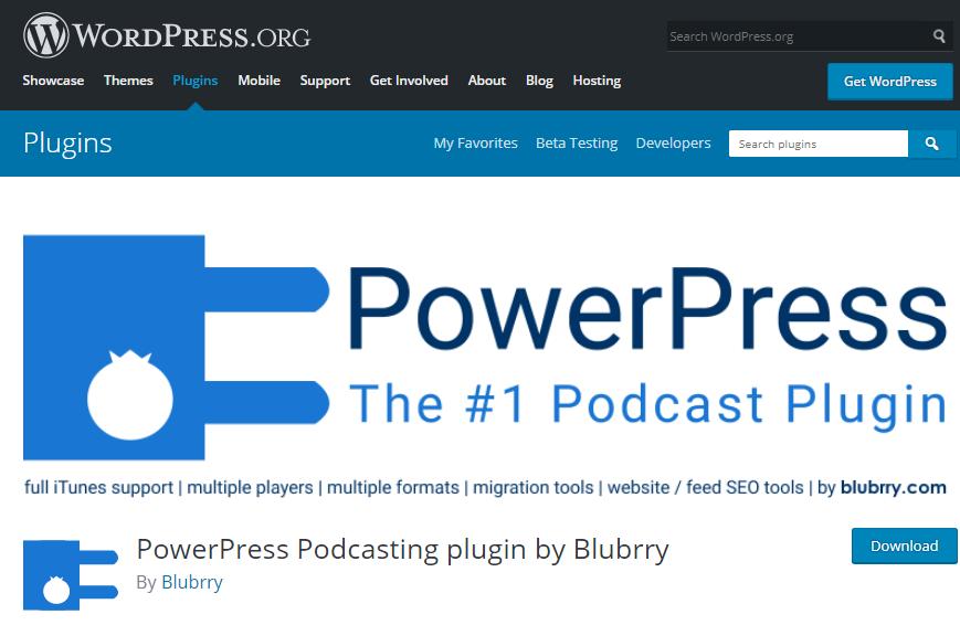 افزونه Blubrry PowerPress Podcasting