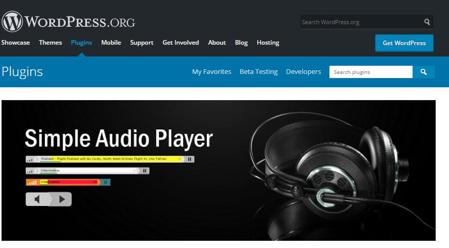 افزونه Simple Audio Player