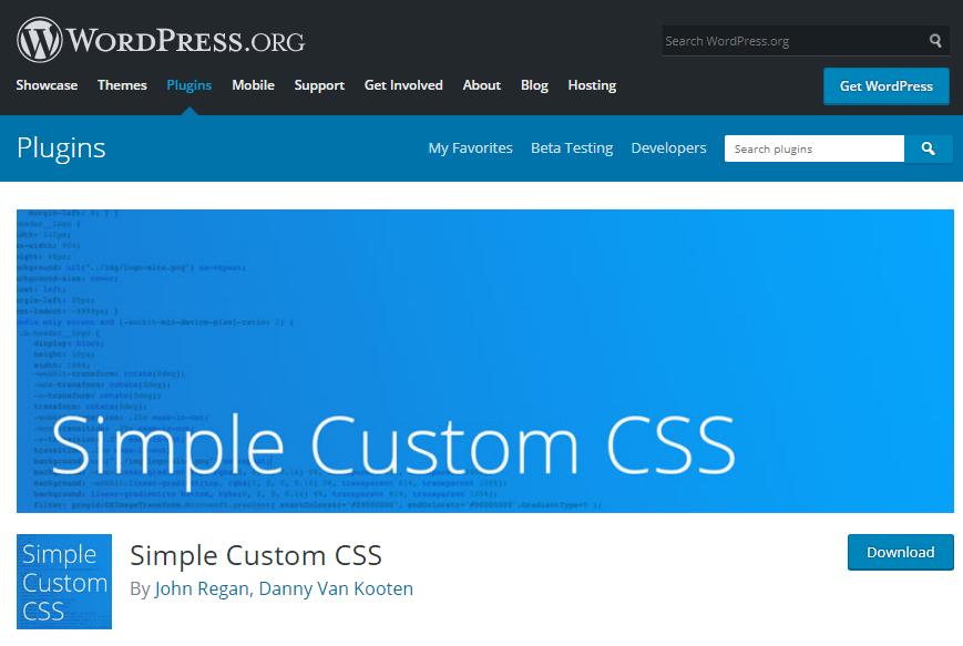 افزونه Simple Custom CSS