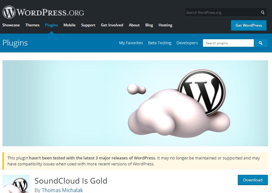 پلاگین SoundCloud is Gold