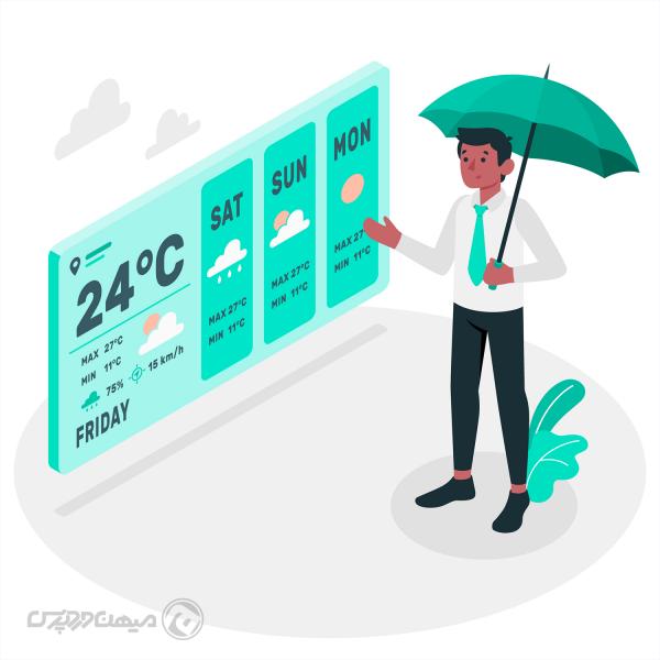 ساخت بخش هواشناسی در وب سایت