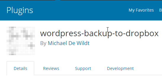 Get the WordPress Backup to Dropbox plugin