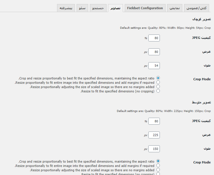 تنظیمات تصویر در پلاگین Business Directory