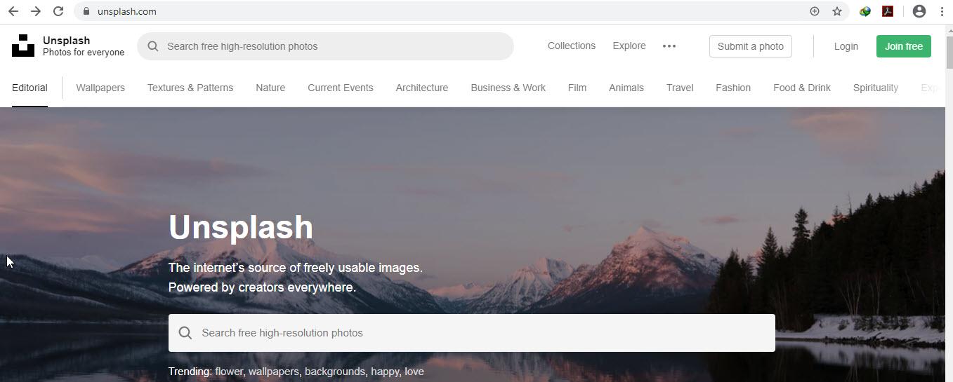 معرفی وبسایت Unsplash.com