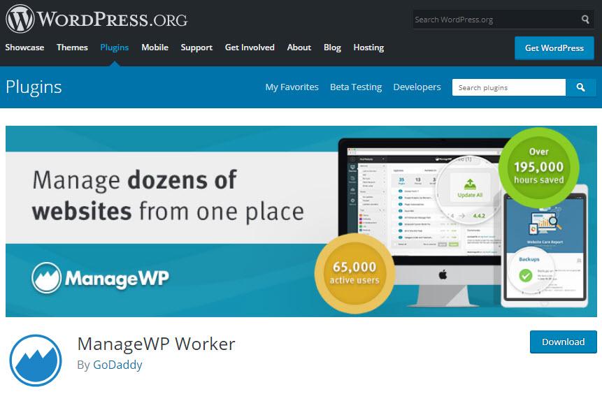 افزونه ManageWP Worker