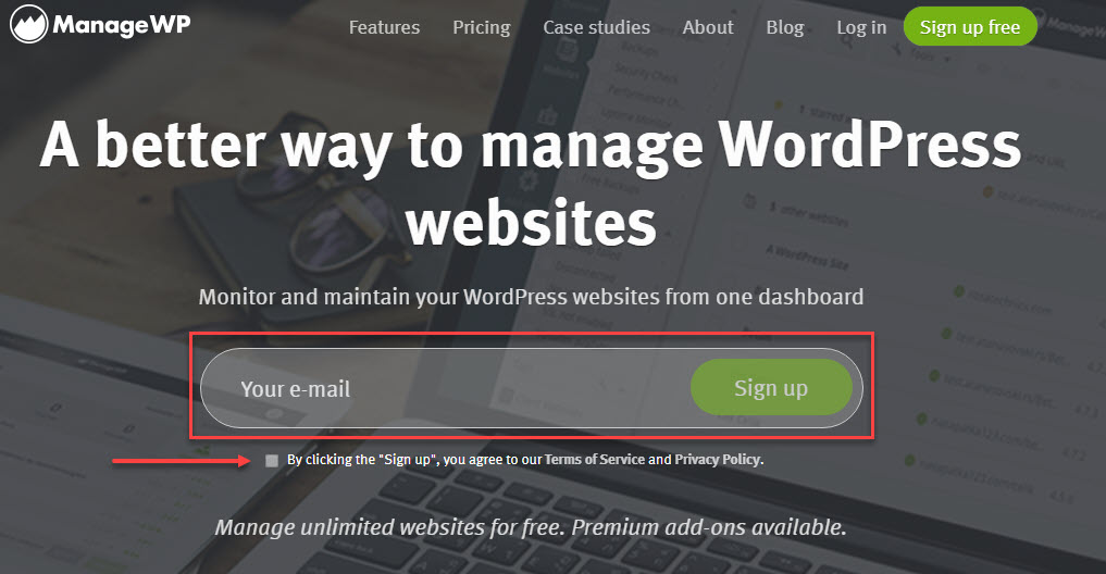 وبسایت Managewp.com