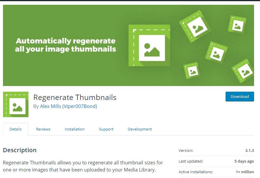 پلاگین  Regenerate Thumbnails