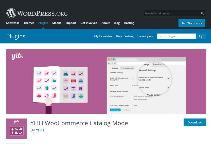 معرفی افزونه YITH WooCommerce Catalog Mode