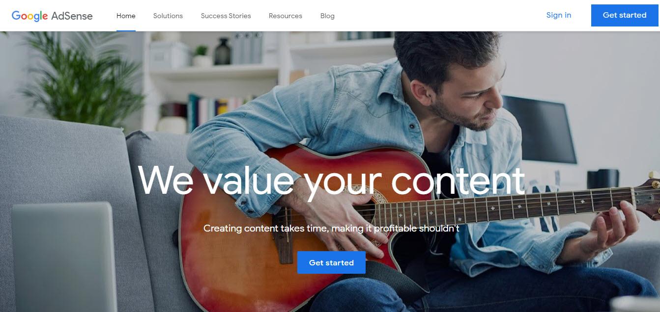 وبسایت Google AdSense