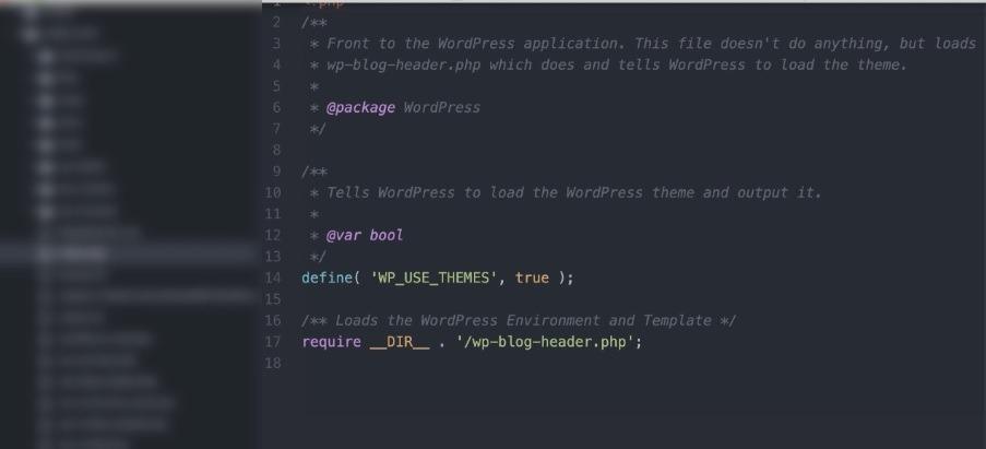 ویرایش فایل Index.php با Atom