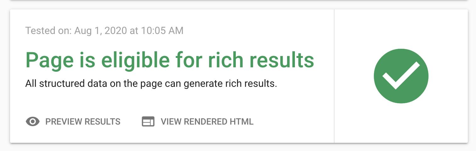 تست دیتای معماری شده گوگل