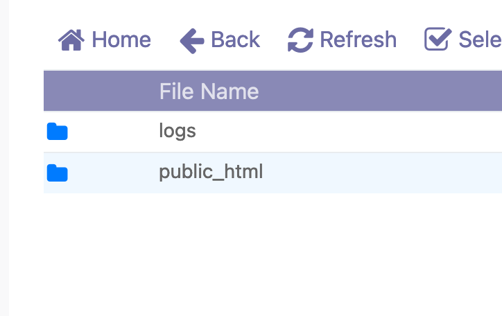 Enter the public_html folder