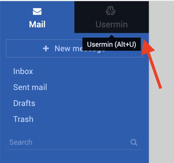 ورود به usermin