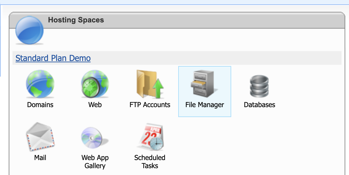 WebSitePanel FileManager