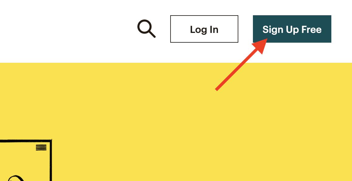 ثبت نام در MailChimp