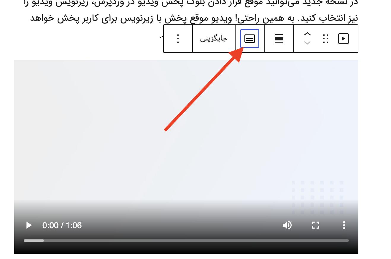 قرار دادن زیرنویس برای ویدیو در وردپرس ۵.۶