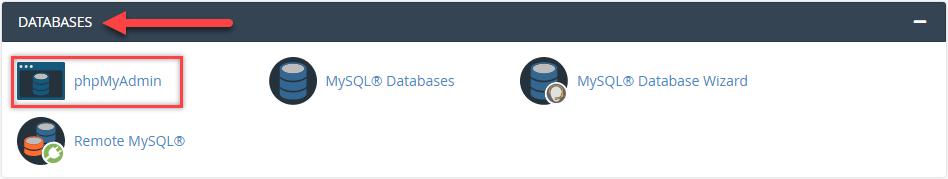 ورود به پایگاه داده (هاست سیپنل)