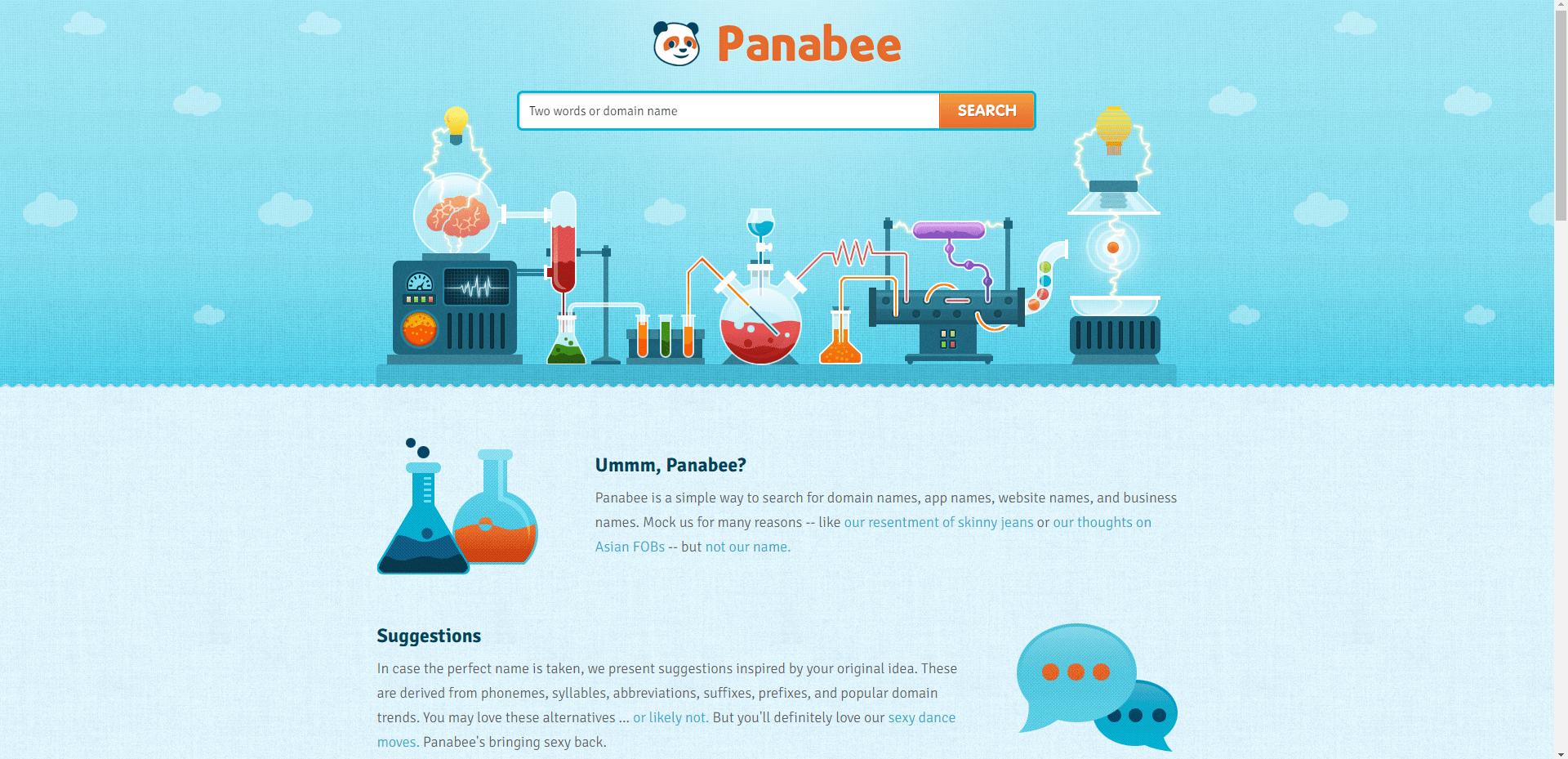 نمایی از سایت Panabee