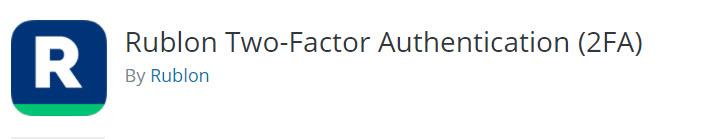 افزونه Rublon Two-Factor Authentication